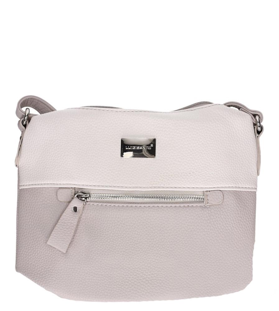 Beżowa torebka mała z kieszonką z przodu Casu 75507-3