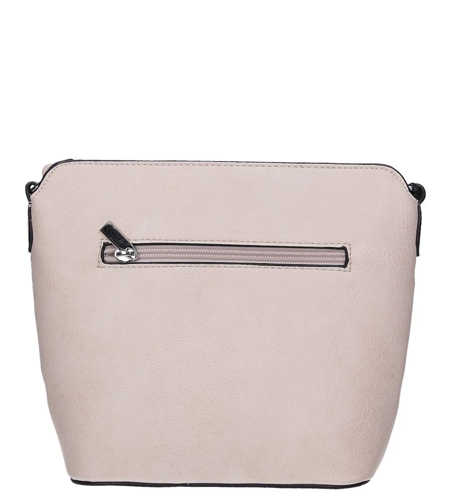 Beżowa torebka mała z metalową ozdobą Casu A6871 kolor jasny beżowy, szary