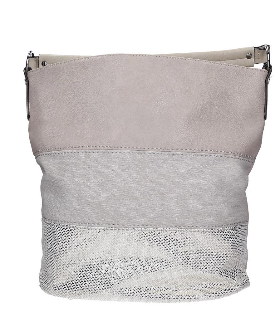 Beżowa torebka z błyszczącym paskiem Casu AC-52
