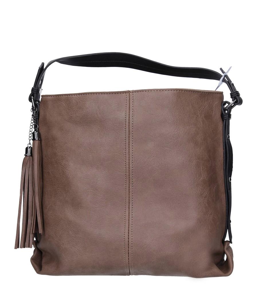 Beżowa torebka z frędzlami Casu 4127-BB