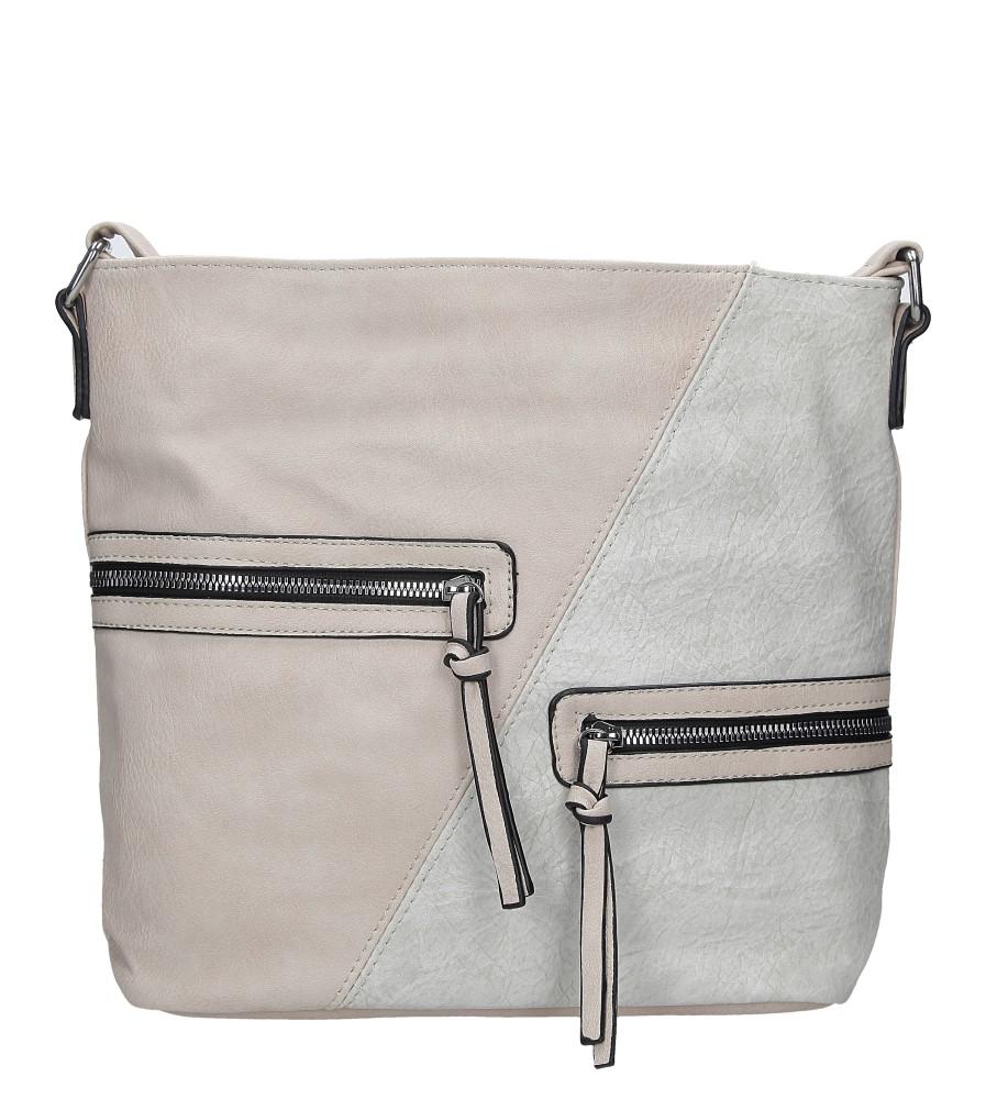 Beżowa torebka z ozdobnymi suwakami Casu 9262