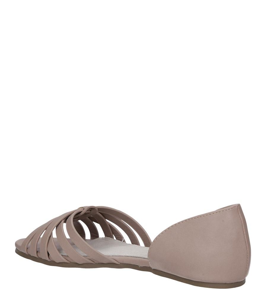 Beżowe baleriny z odkrytymi palcami ze szkórzaną wkładką Casu SN19X8/BE wys_calkowita_buta 6.5 cm
