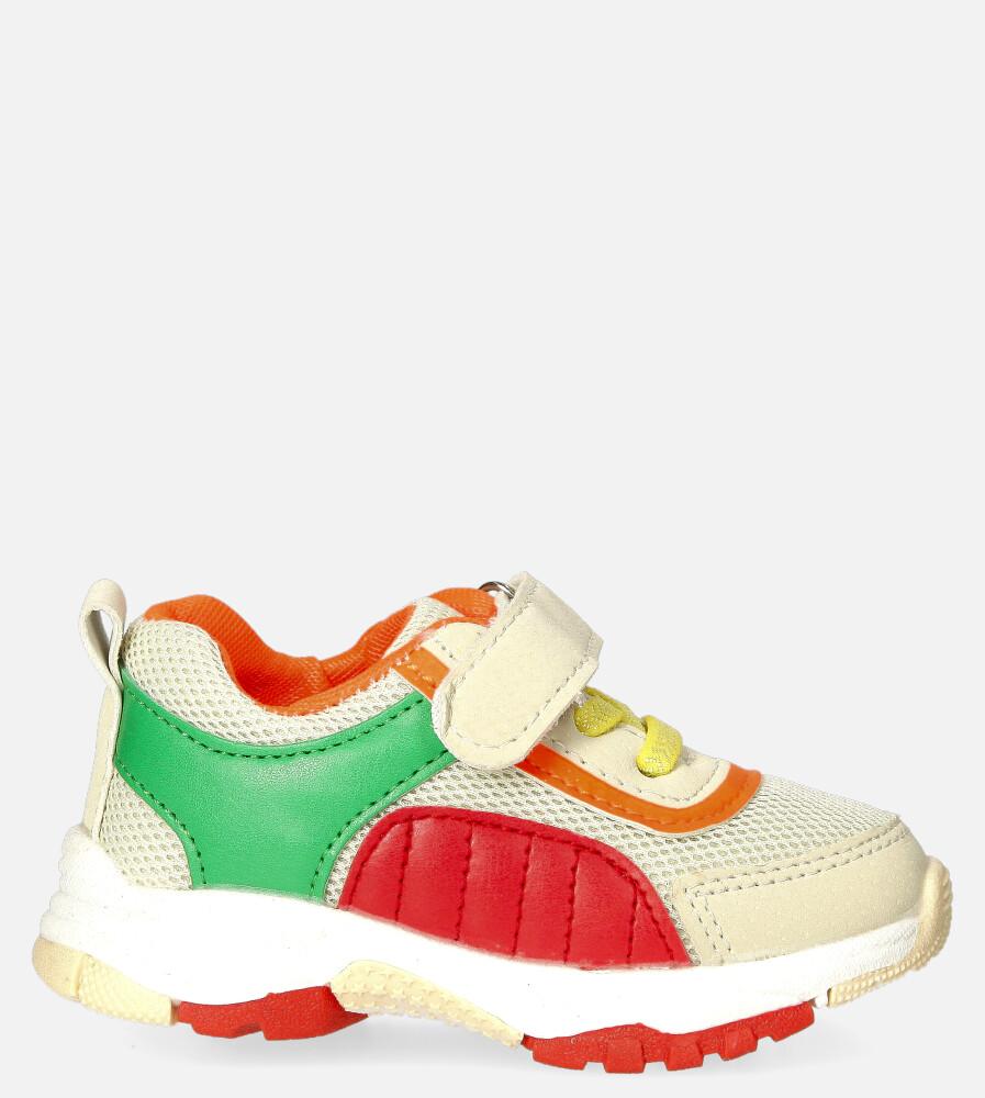 Beżowe buty sportowe na rzep Casu 204/15M beżowy