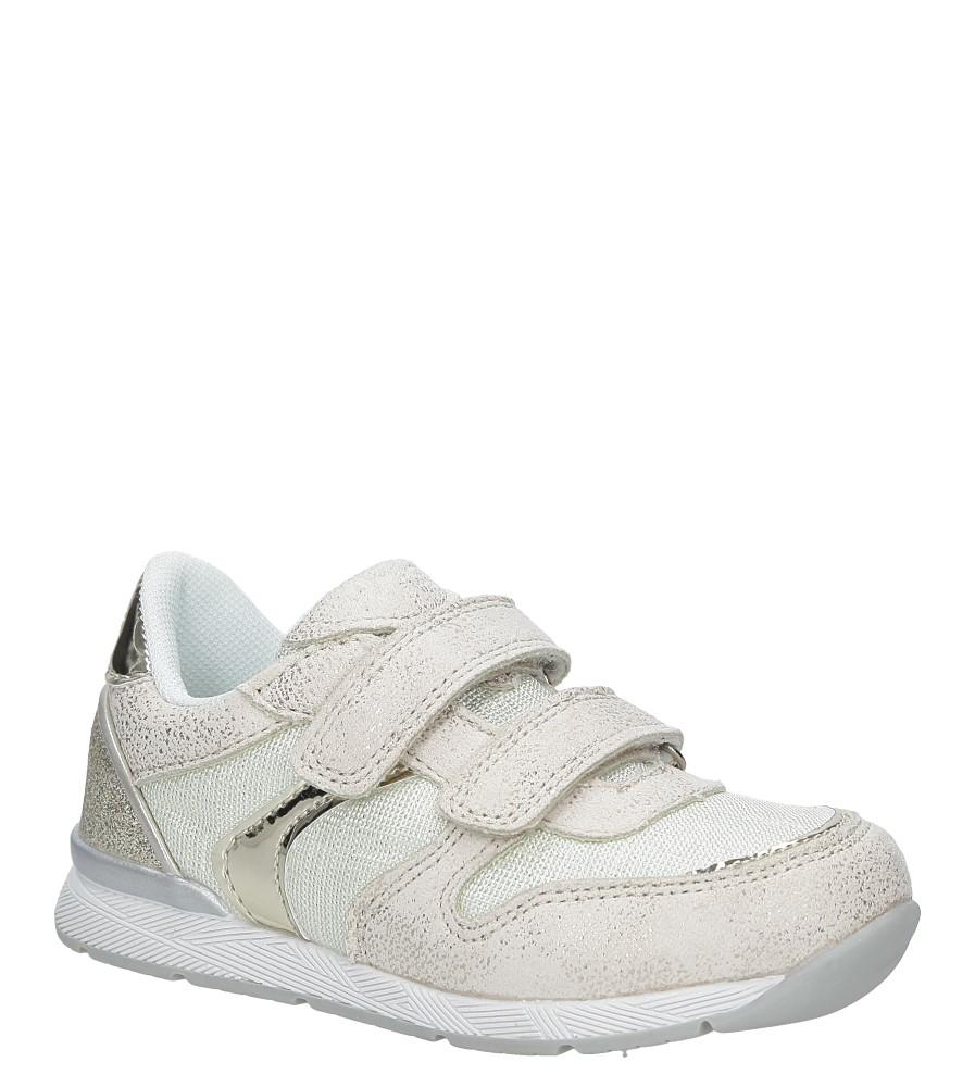 aff45960 Obuwie dla dziewczynki Beżowe buty sportowe na rzepy American K17381 ...