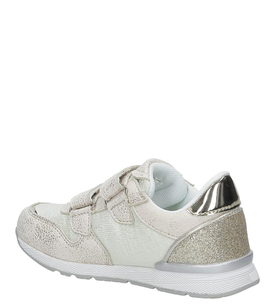 5ffb2a39 ... Beżowe buty sportowe na rzepy American K17381 kolor beżowy, złoty ...