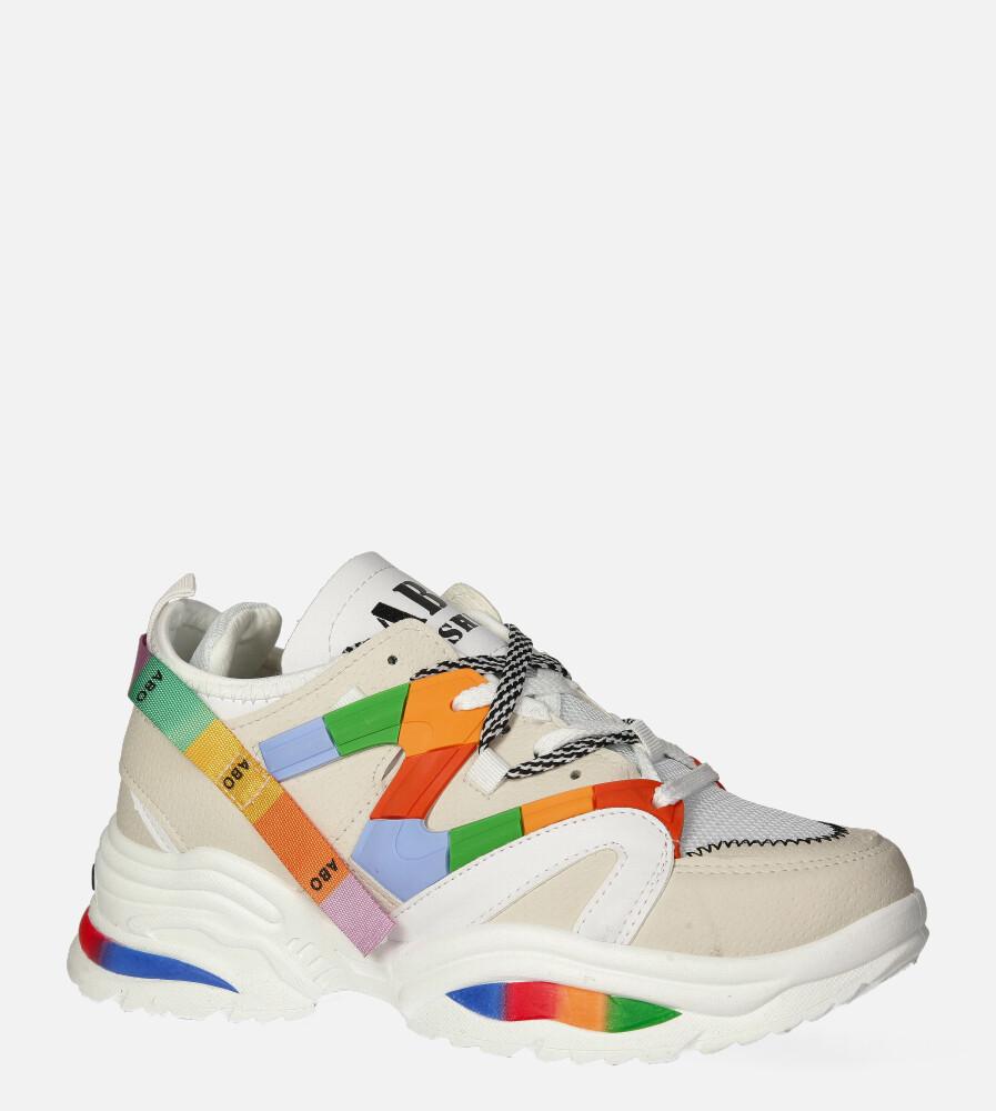 Beżowe buty sportowe sneakersy sznurowane Casu 20G5/W beżowy