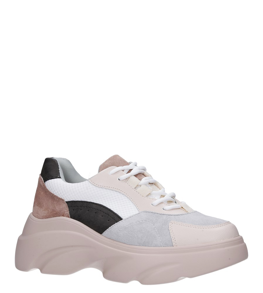 Beżowe buty sportowe sneakersy sznurowane Casu beżowy
