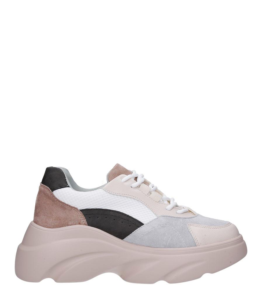 Beżowe buty sportowe sneakersy sznurowane Casu  wysokosc_platformy 4 cm