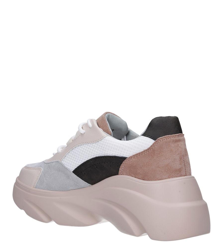 Beżowe buty sportowe sneakersy sznurowane Casu  wys_calkowita_buta 13 cm