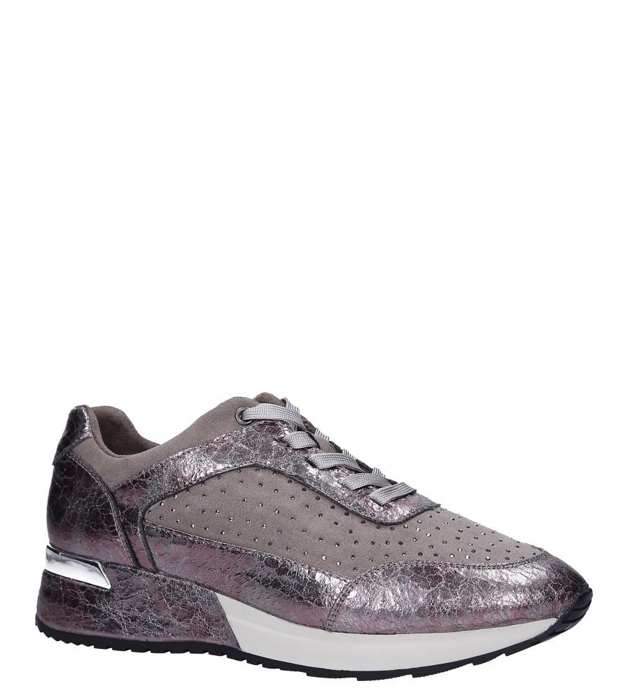 Beżowe buty sportowe sneakersy sznurowane z dżetami Sergio Leone SP005