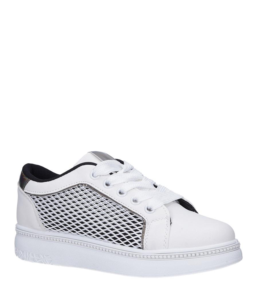 Beżowe buty sportowe sneakersy sznurowane z siateczką Casu 7-K682A jasny beżowy