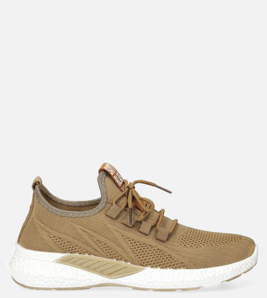 Beżowe buty sportowe sznurowane Casu 204/18E