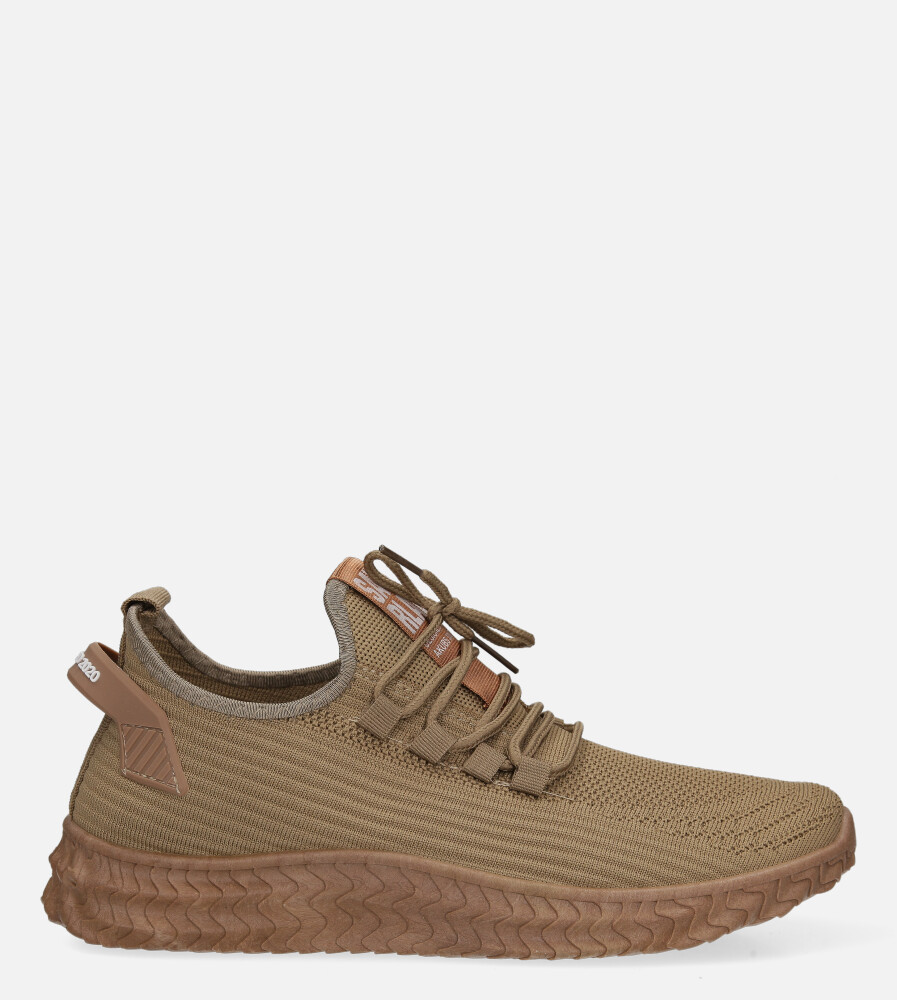 Beżowe buty sportowe sznurowane Casu 20A10/BE beżowy