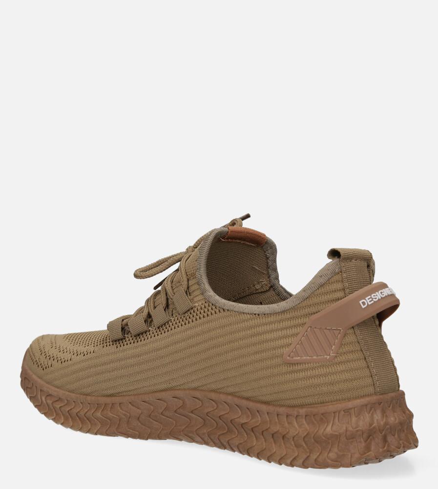 Beżowe buty sportowe sznurowane Casu 20A10/BE sezon Całoroczny