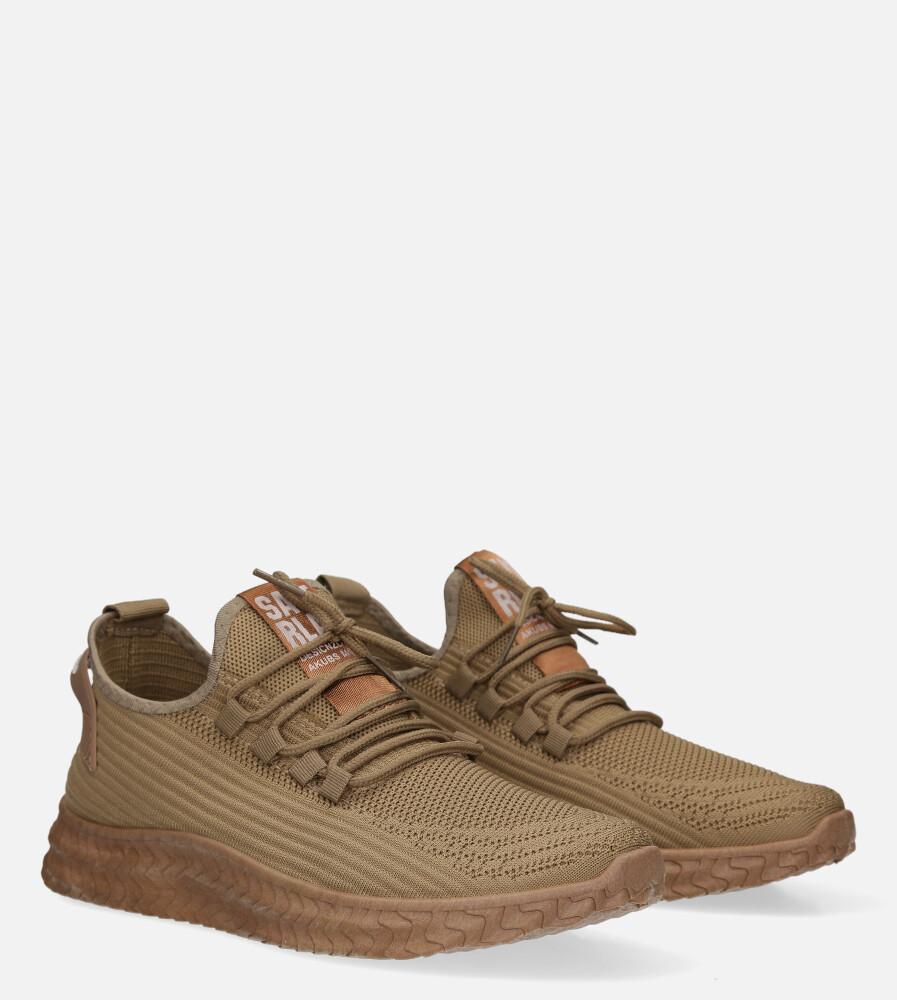 Beżowe buty sportowe sznurowane Casu 20A10/BE kolor beżowy