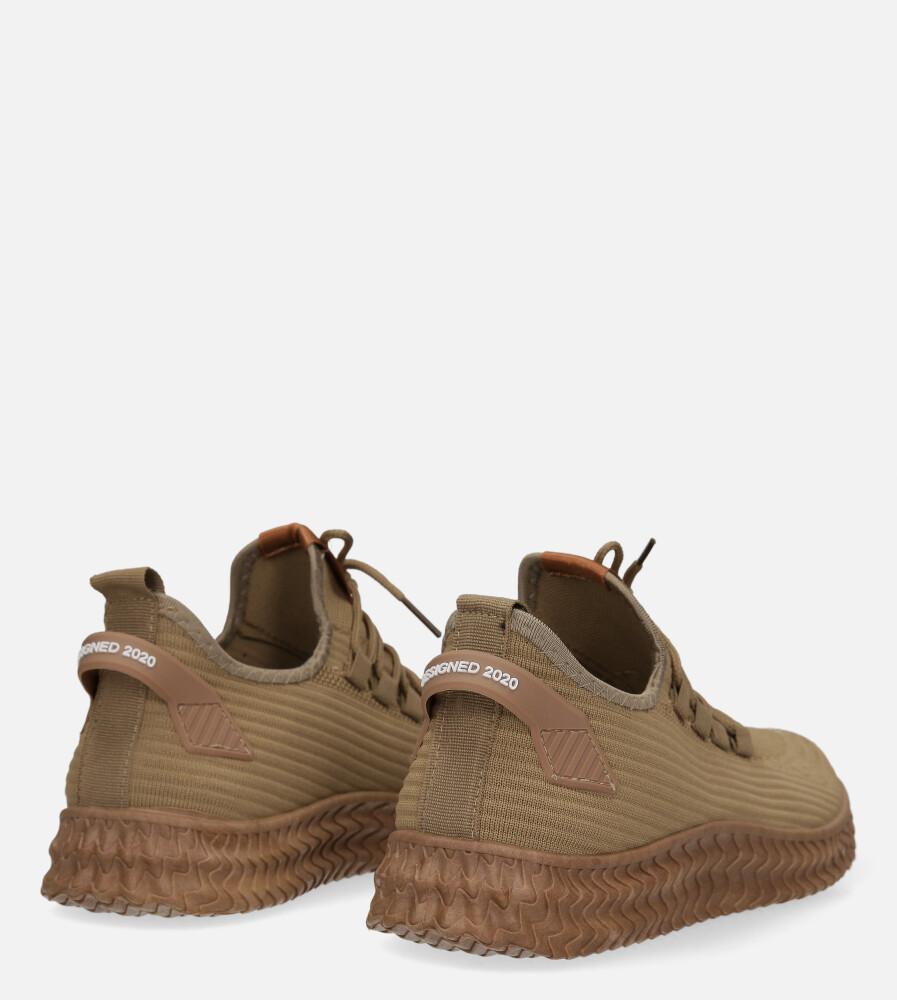 Beżowe buty sportowe sznurowane Casu 20A10/BE wysokosc_obcasa 3 cm