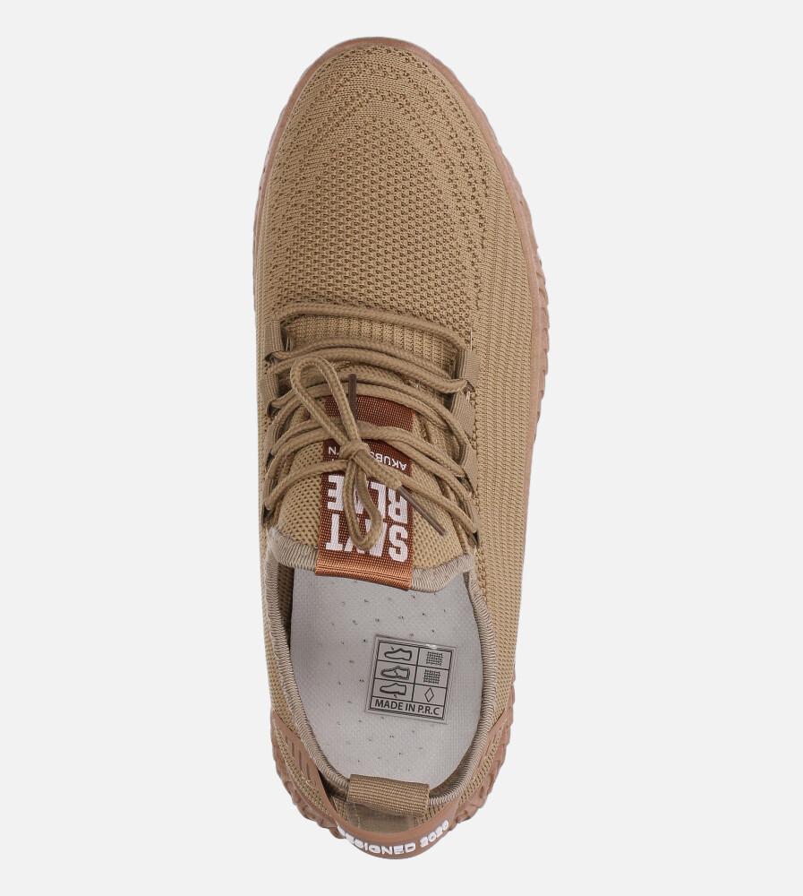 Beżowe buty sportowe sznurowane Casu 20A10/BE wysokosc_platformy 1.5 cm