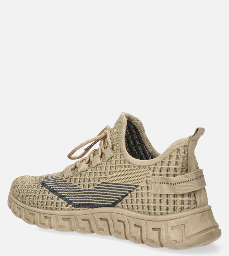 Beżowe buty sportowe sznurowane Casu 20A16/C kolor beżowy