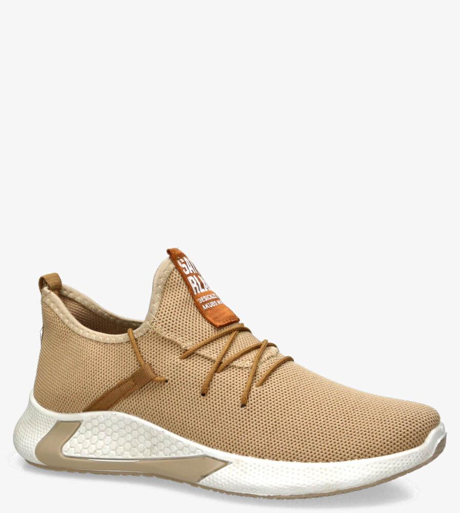Beżowe buty sportowe sznurowane Casu 21A1/BE beżowy
