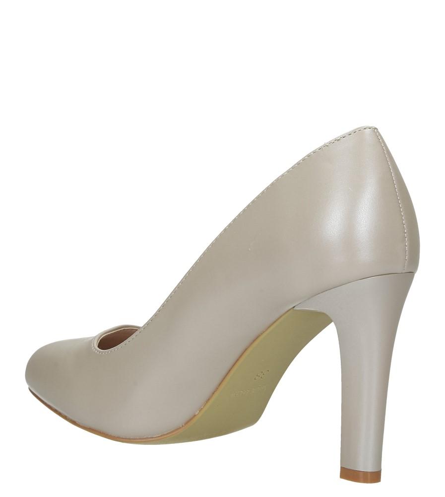 Beżowe czółenka ślubne na słupku nude perła Sergio Leone 1457 wys_calkowita_buta 16 cm