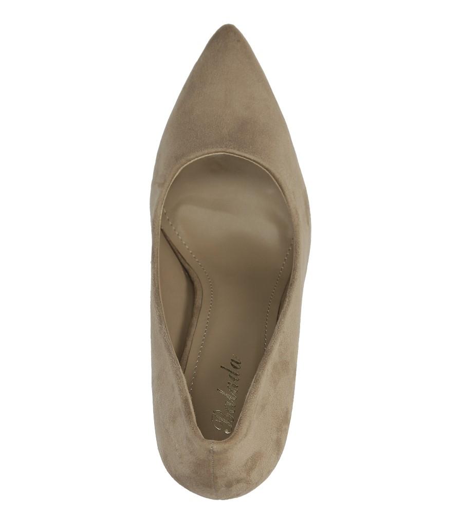 Beżowe czółenka szpilki Casu 1030A-14 wys_calkowita_buta 18.5 cm