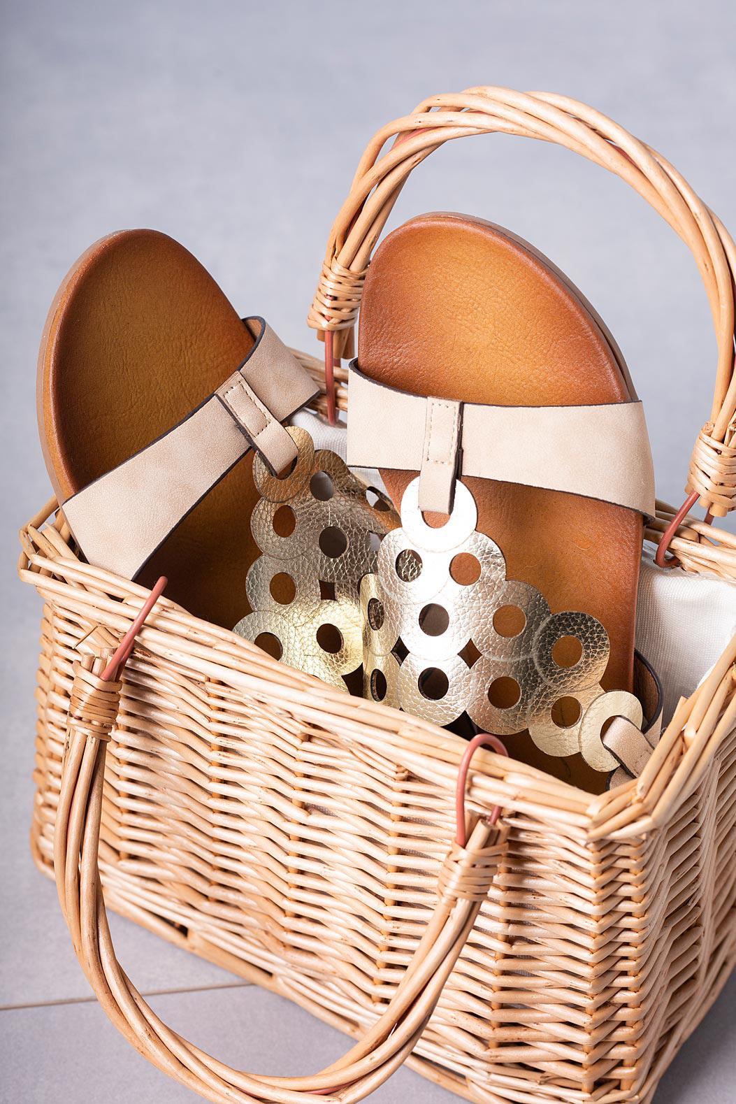 Beżowe lekkie sandały płaskie ażurowe błyszczące Casu K19X14/BE beżowy