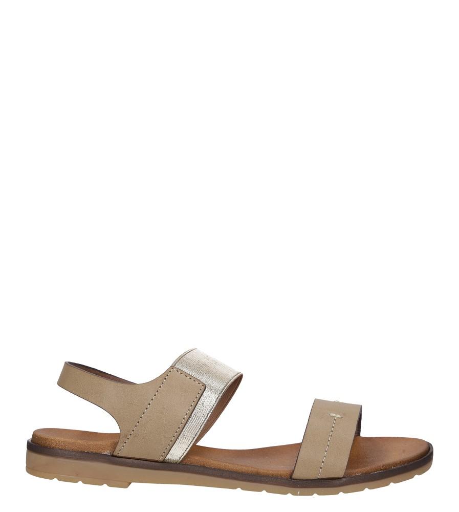 Beżowe lekkie sandały płaskie z błyszczącą gumką Casu K19X7/T wysokosc_platformy 1 cm