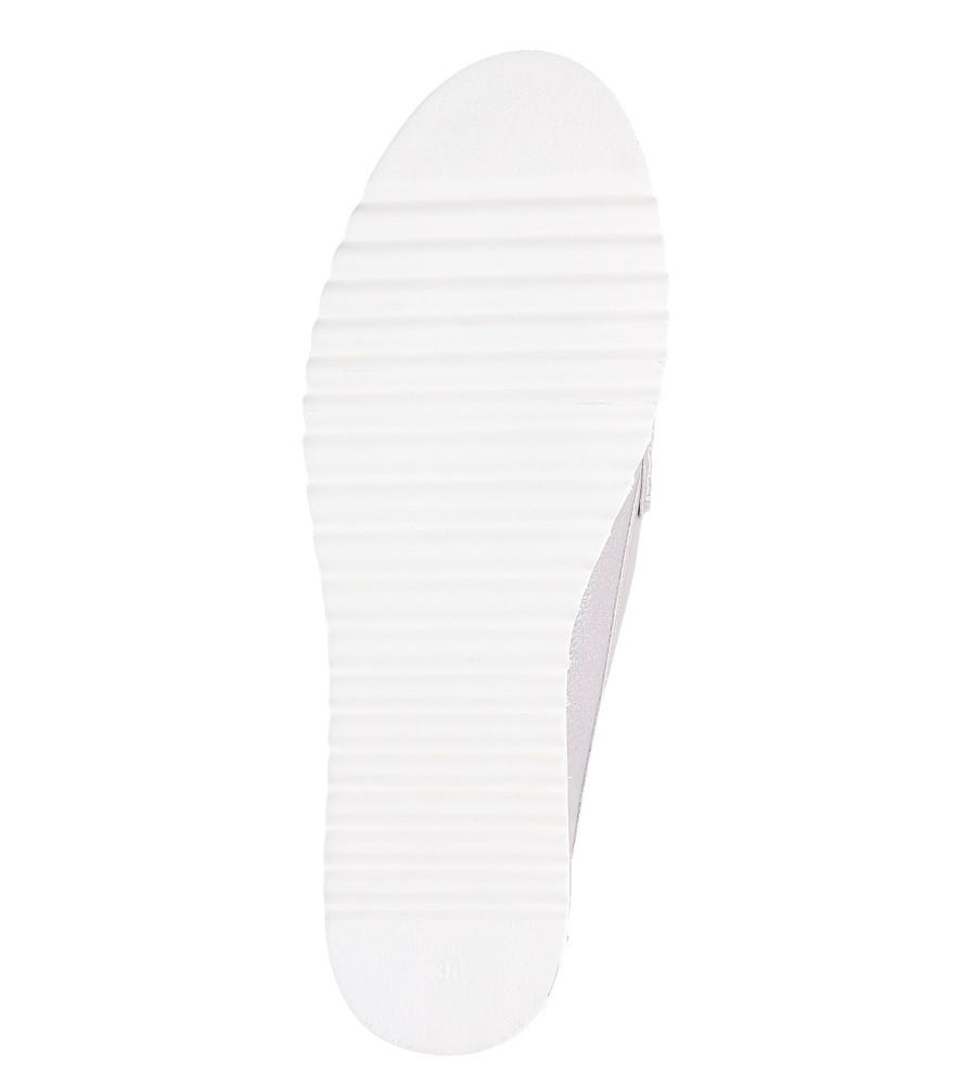 Beżowe mokasyny błyszczące z perełkami Sergio Leone MK725 wnetrze skóra ekologiczna