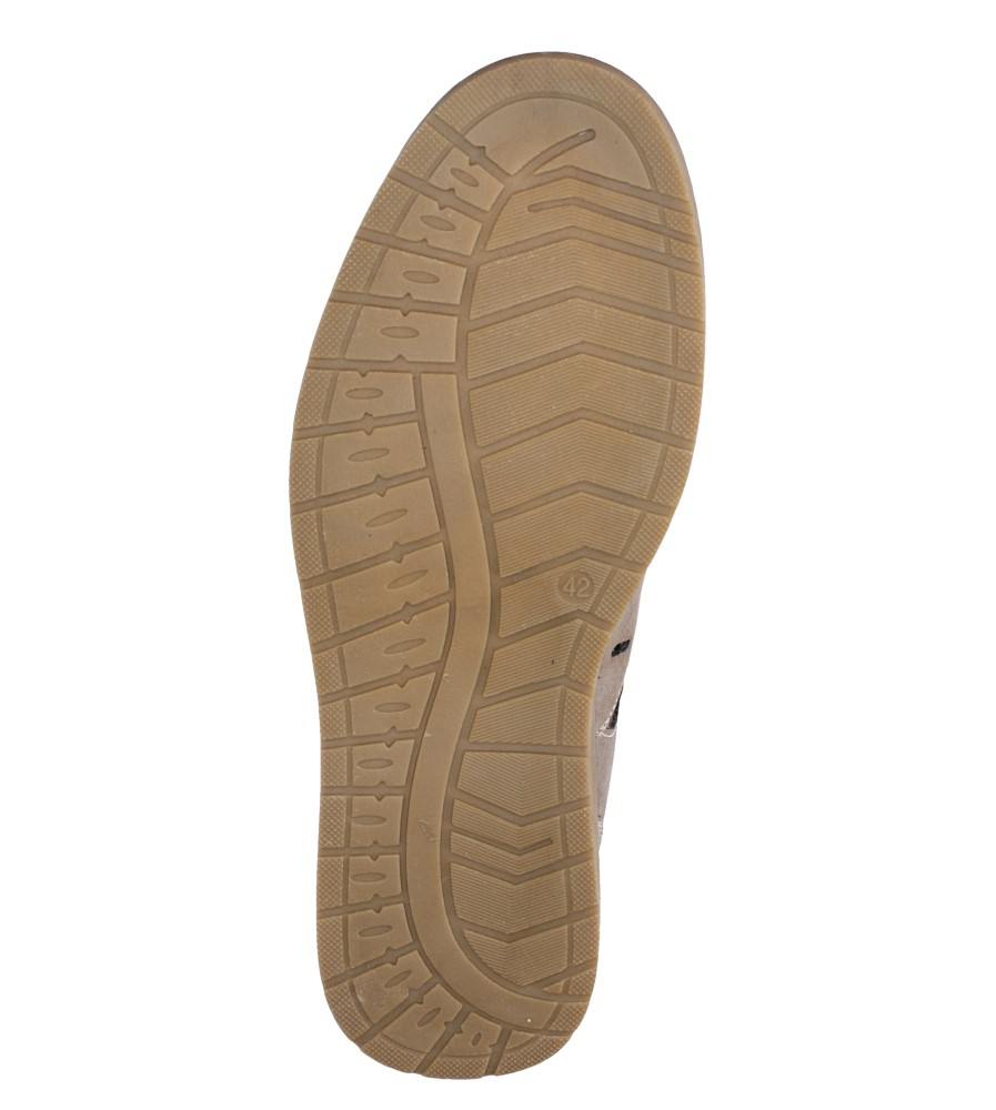 Beżowe półbuty Casu 783/A07-5 wys_calkowita_buta 9.5 cm