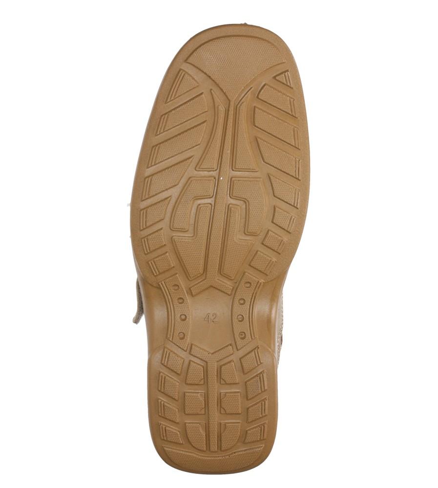 Beżowe półbuty na rzep Casu 3871-7 wys_calkowita_buta 9 cm