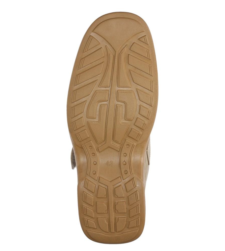 Beżowe półbuty na rzep Casu 3888-7 wys_calkowita_buta 9 cm