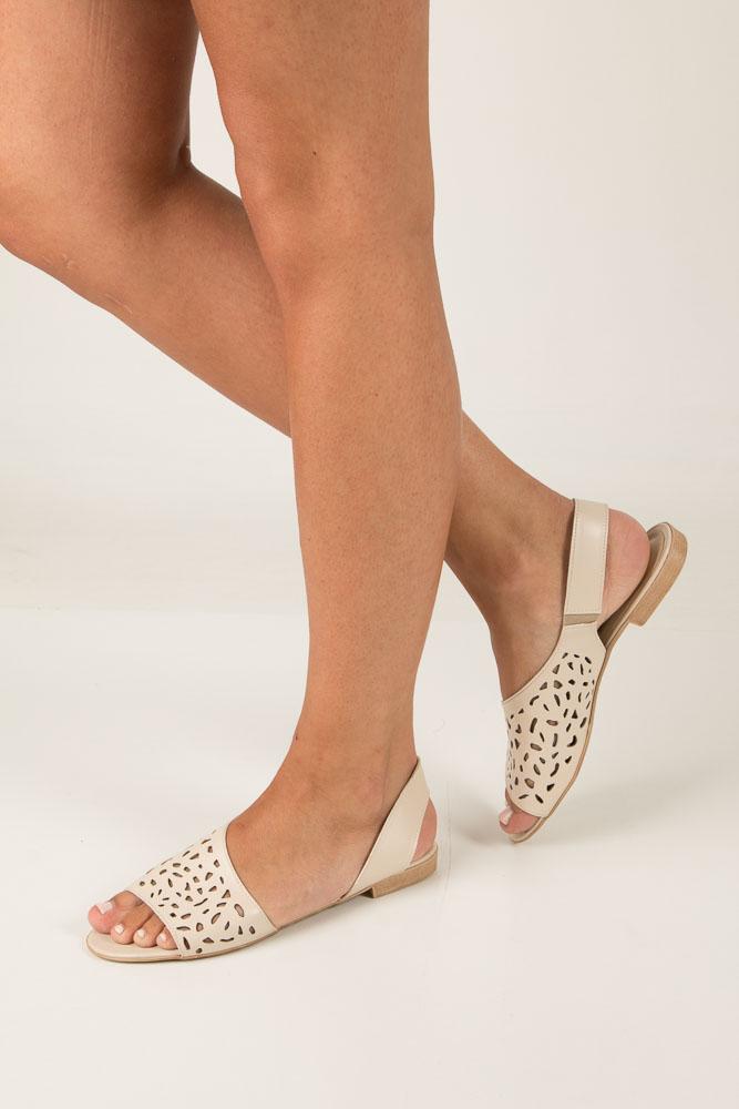Beżowe sandały ażurowe Casu 1983/L