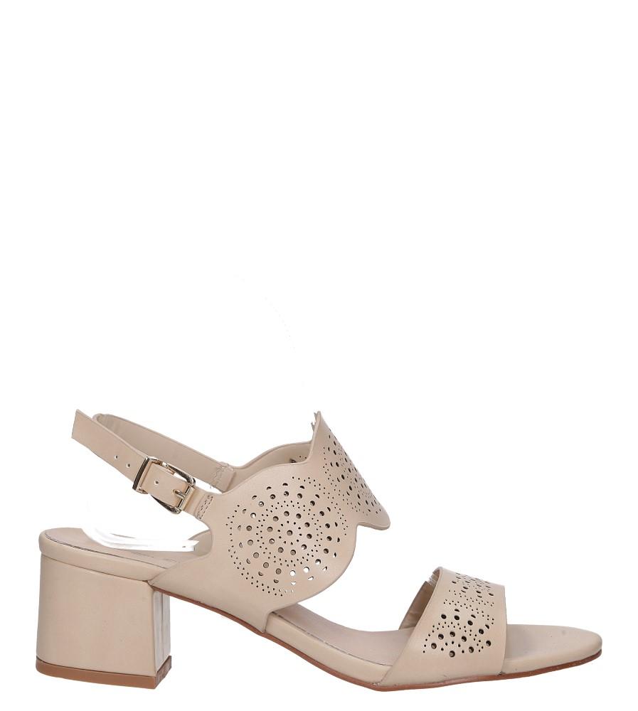 Beżowe sandały ażurowe na niskim obcasie skórzana wkładka Casu R19X4/BE wysokosc_obcasa 5.5 cm