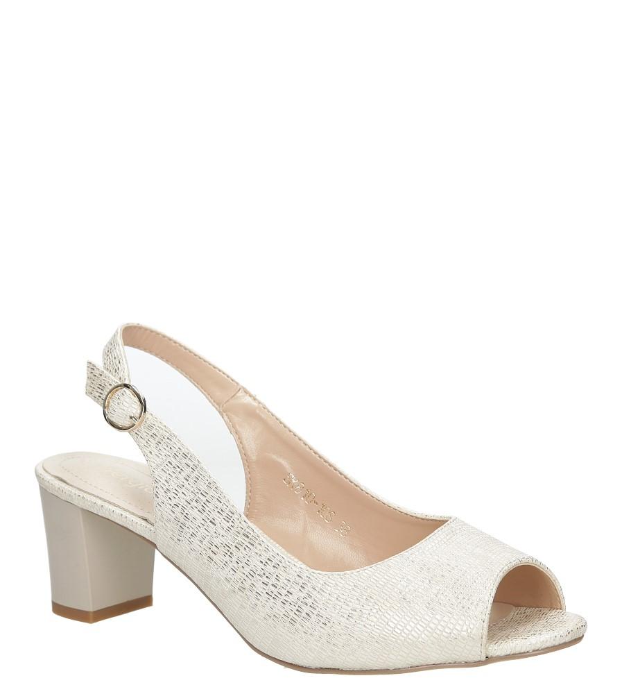 Beżowe sandały błyszczące na słupku Sergio Leone SK810-10S