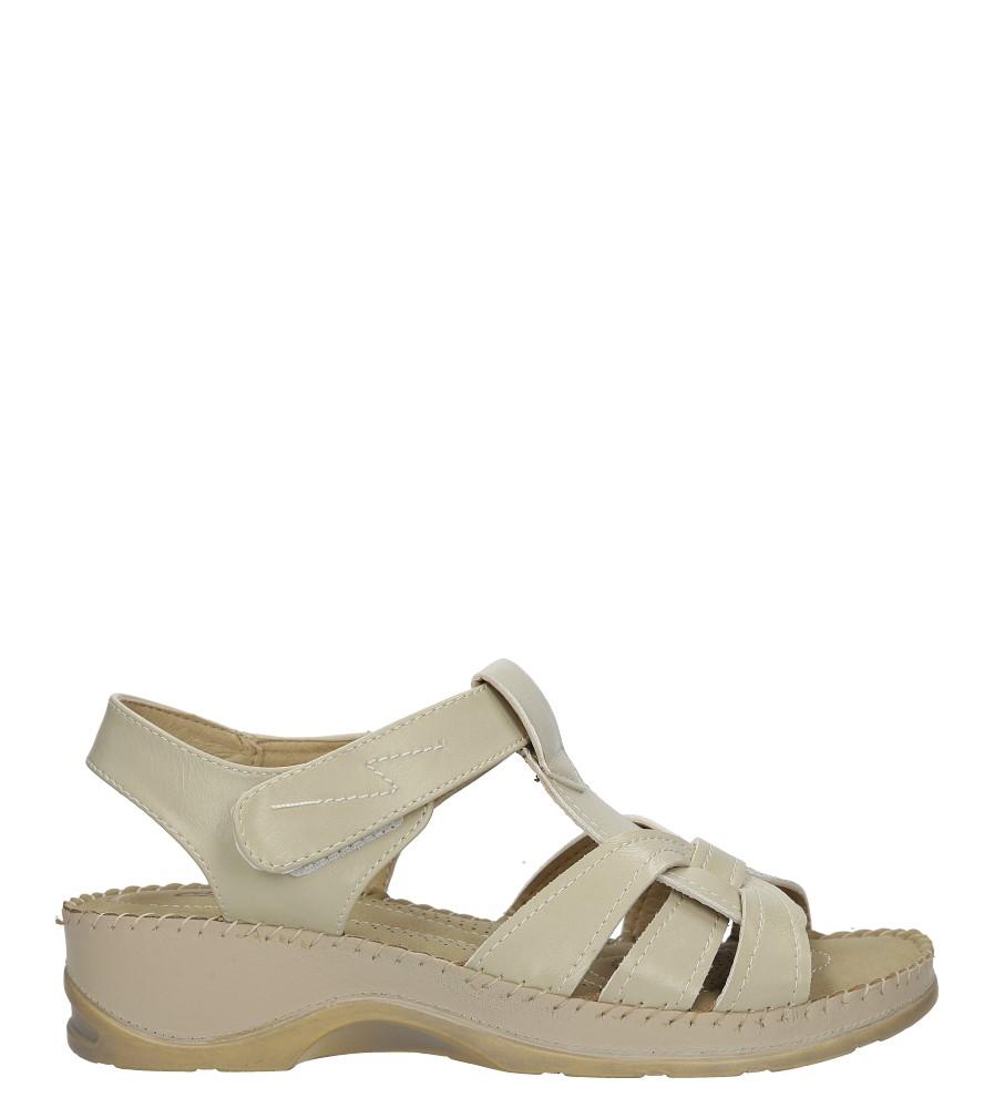 Beżowe sandały na koturnie Casu 1213-7