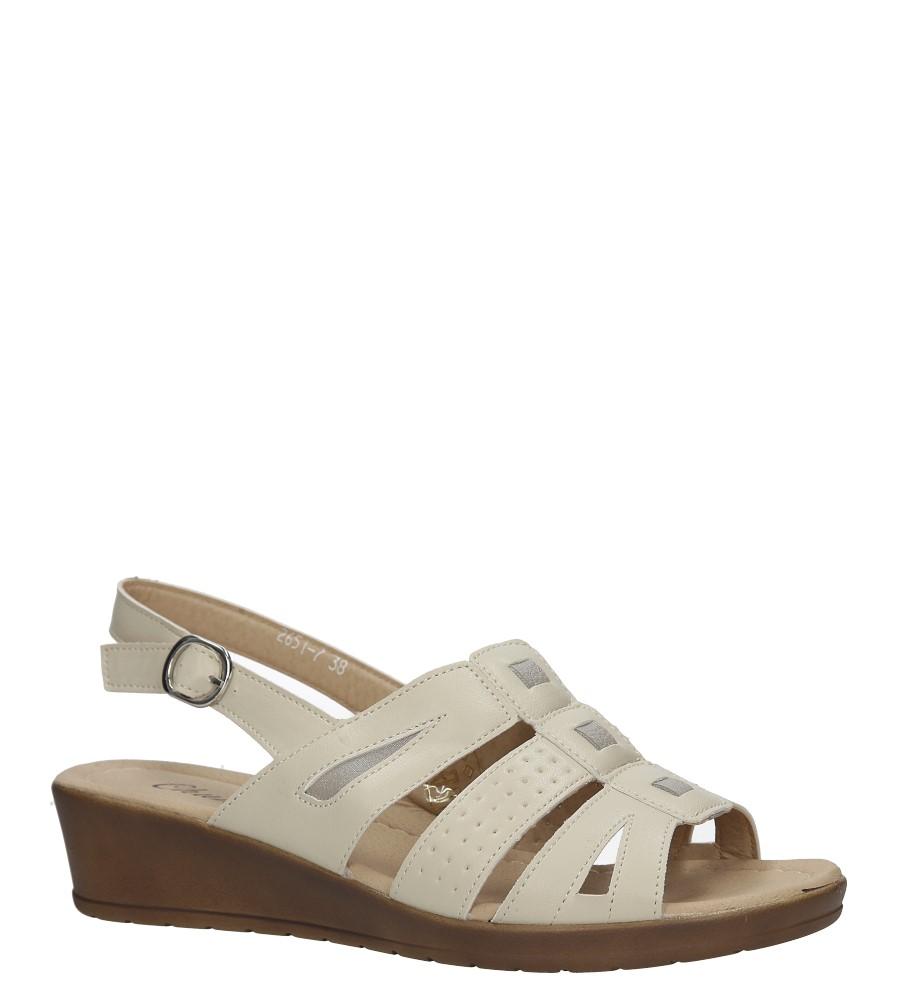 Beżowe sandały na koturnie Casu 2651-7