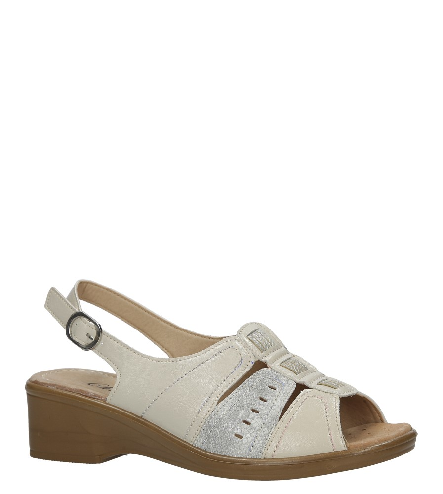 Beżowe sandały na koturnie Casu B155R-7