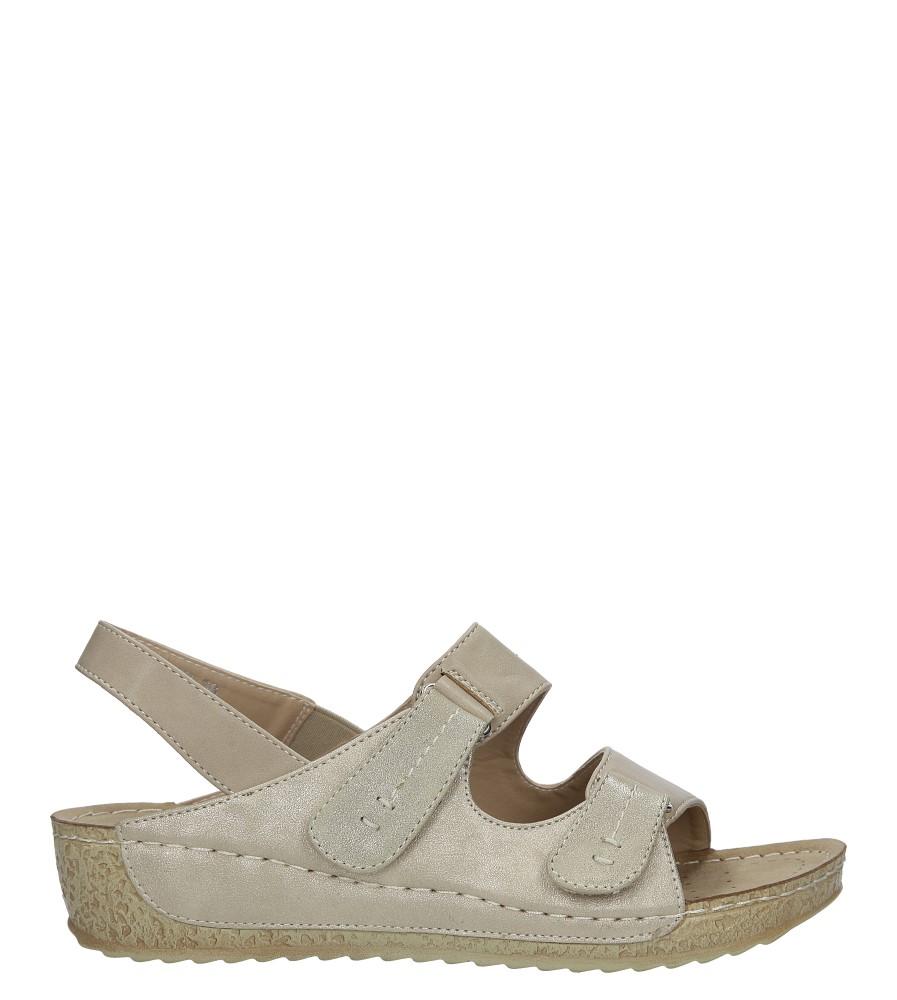 Beżowe sandały na koturnie Casu HR61272