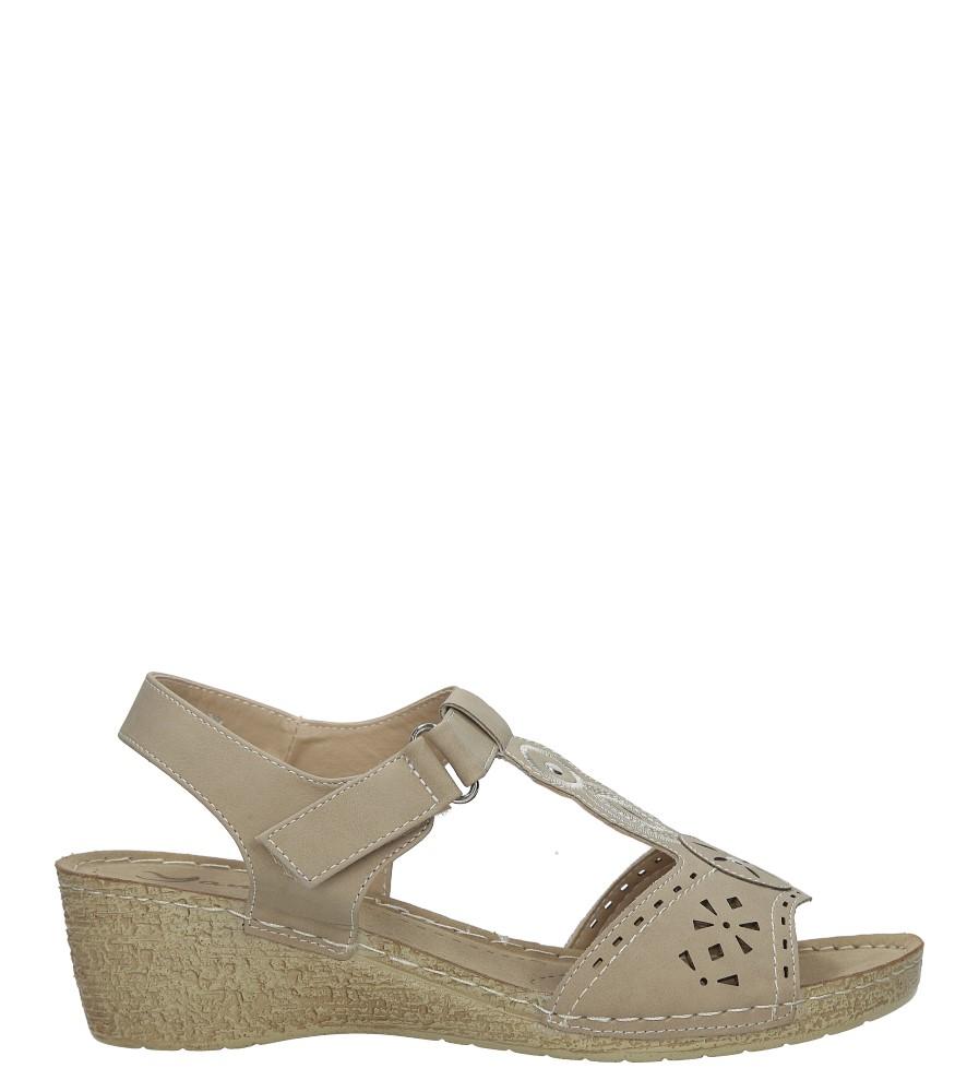 Beżowe sandały na koturnie Casu HR61275