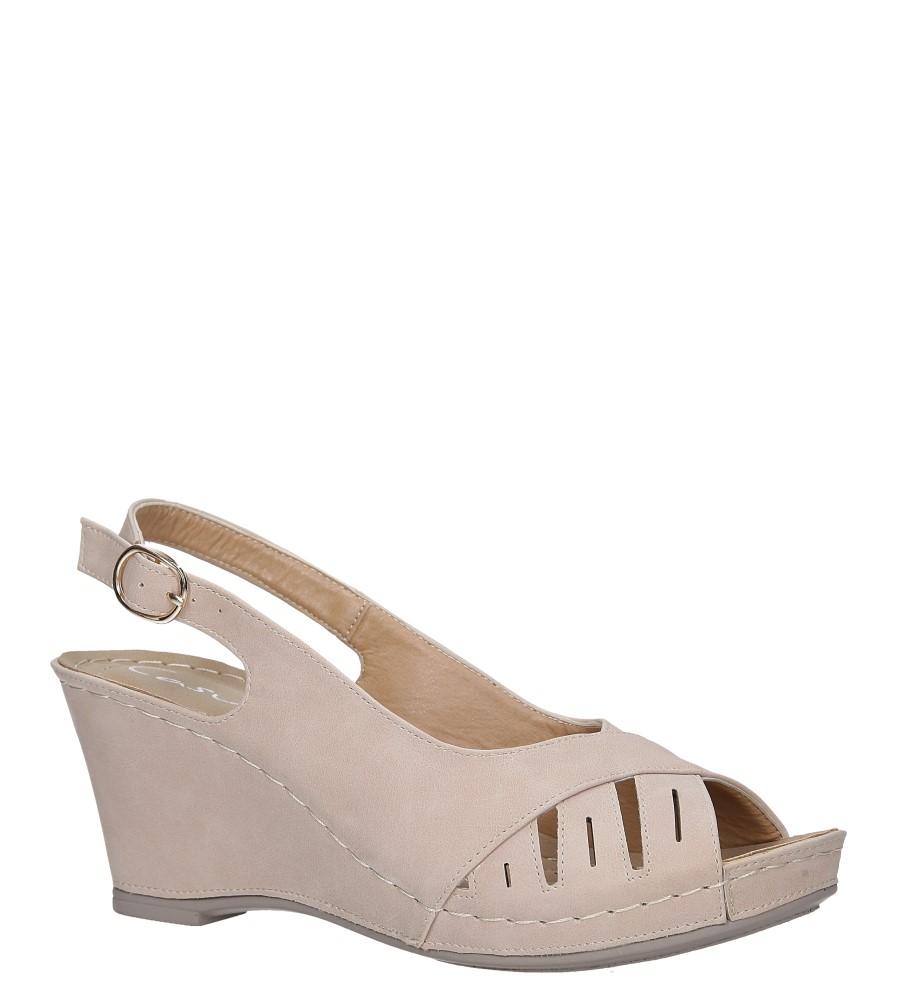 Beżowe sandały na koturnie Casu SN19X5/BE