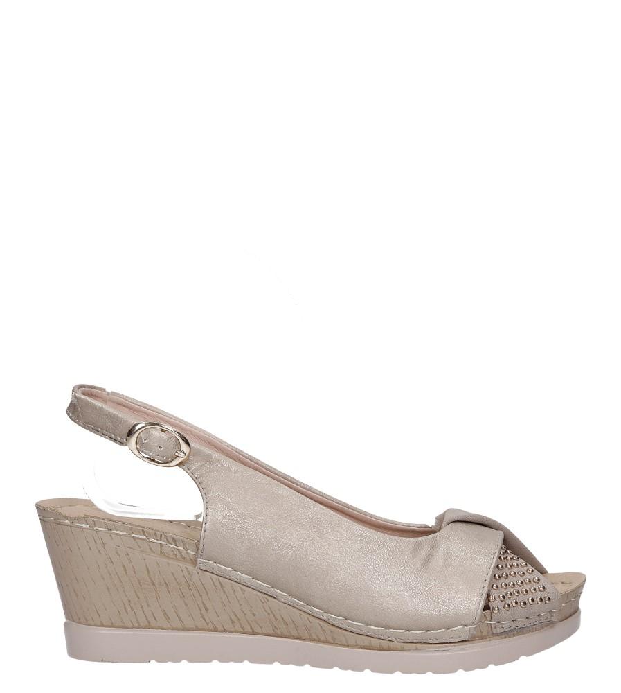 Beżowe sandały na koturnie Casu W19X13/B wysokosc_platformy 2 cm