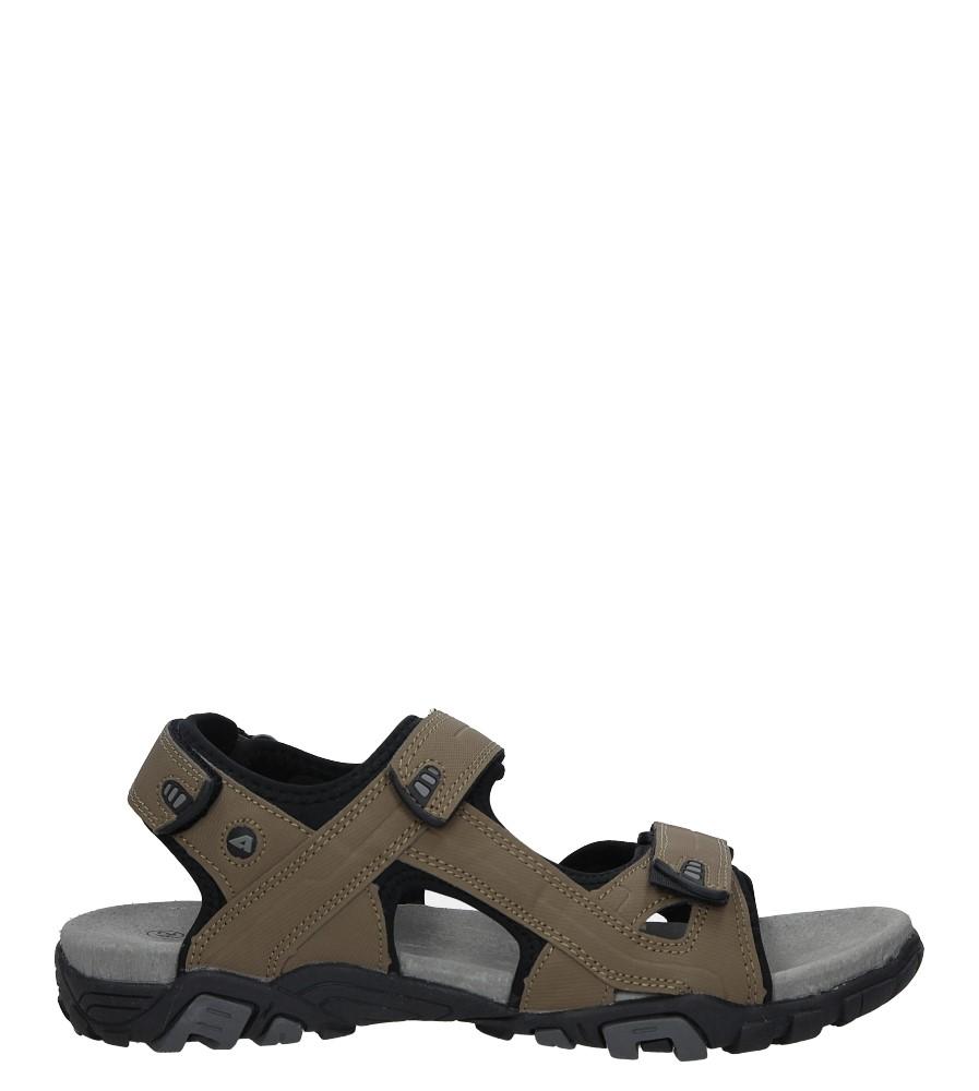 Beżowe sandały na rzepy American BIF0072