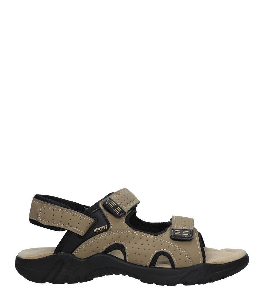 Beżowe sandały na rzepy Casu B9002-3