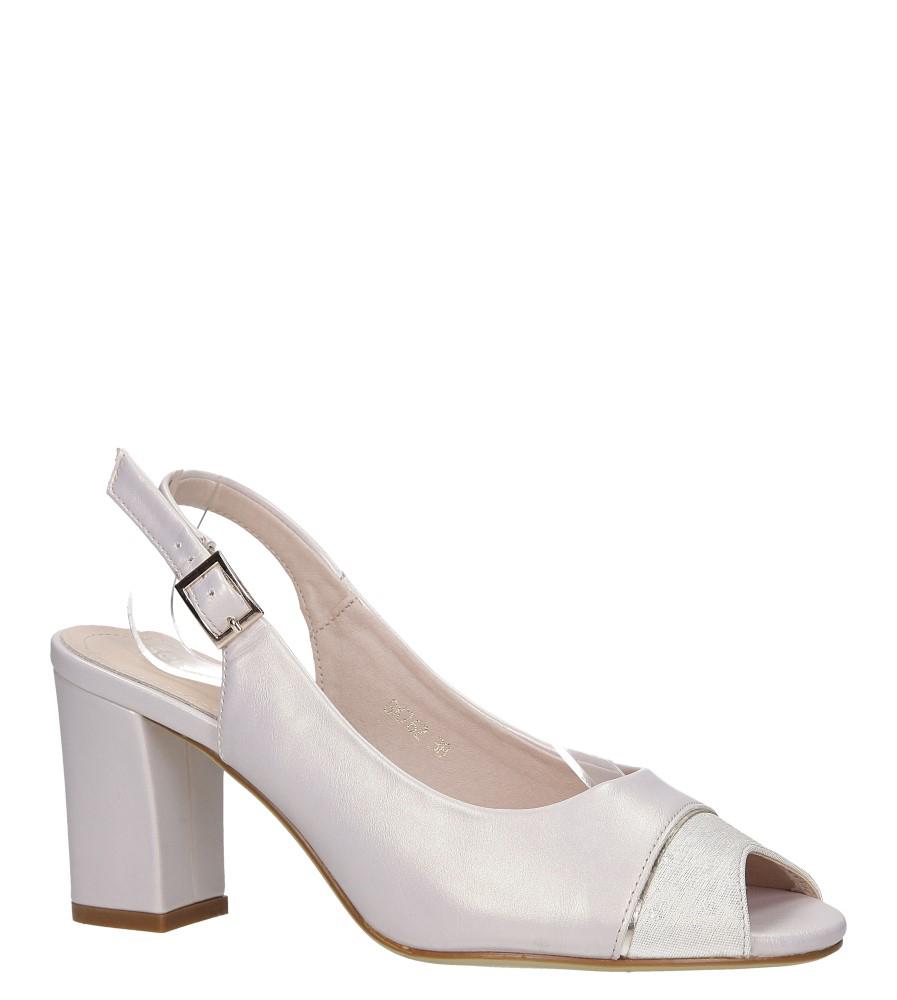 Beżowe sandały na słupku perła Sergio Leone SK762