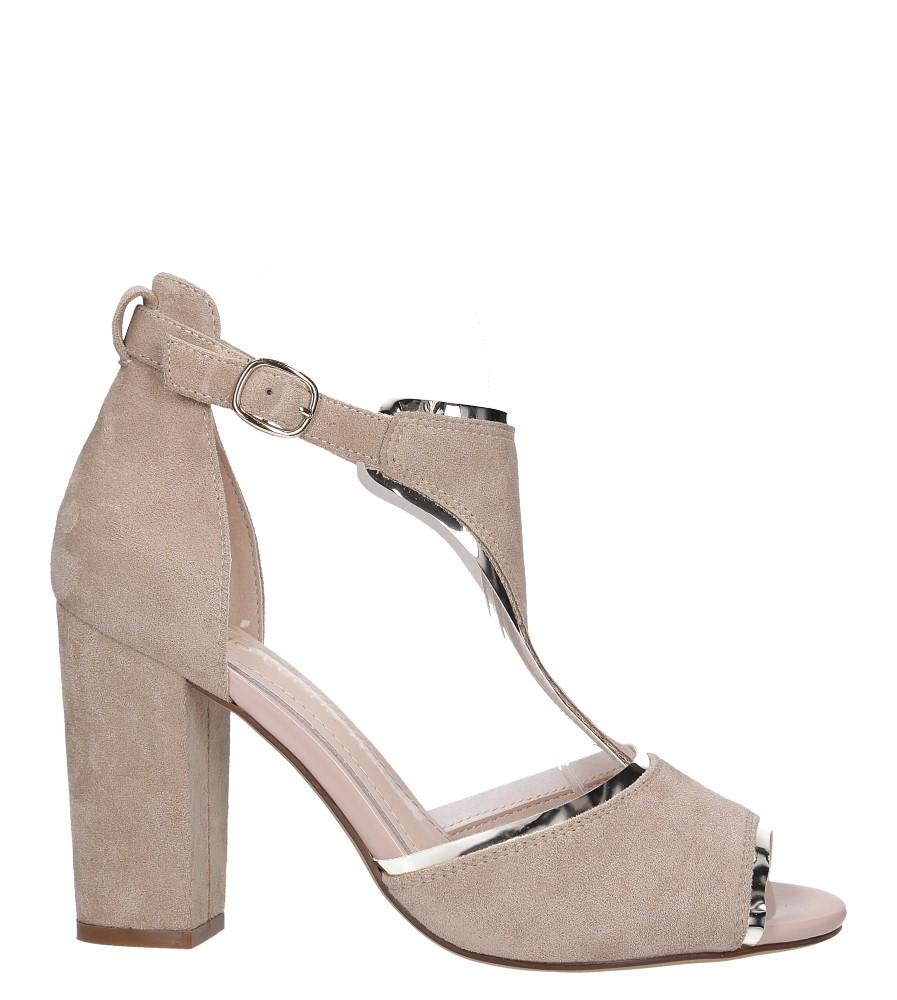 Beżowe sandały na słupku z zakrytą piętą Sergio Leone SK854 wysokosc_platformy 0.5 cm