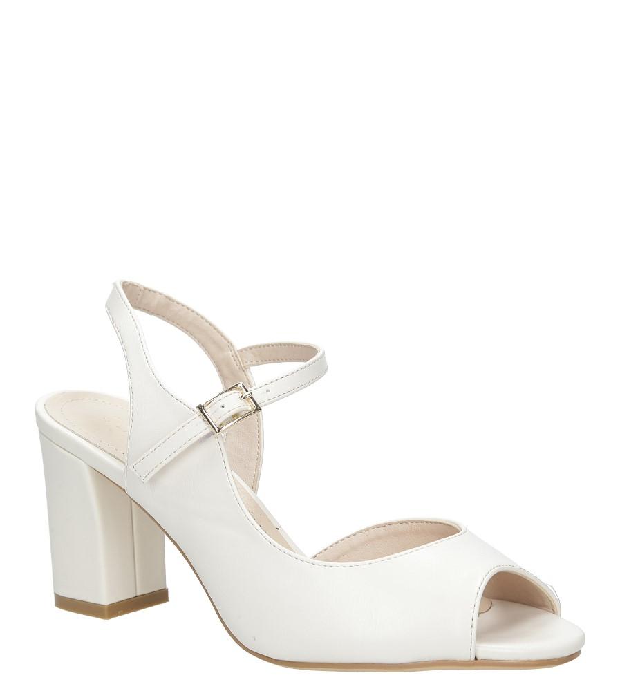Beżowe sandały na szerokim obcasie Sergio Leone SK808-10P