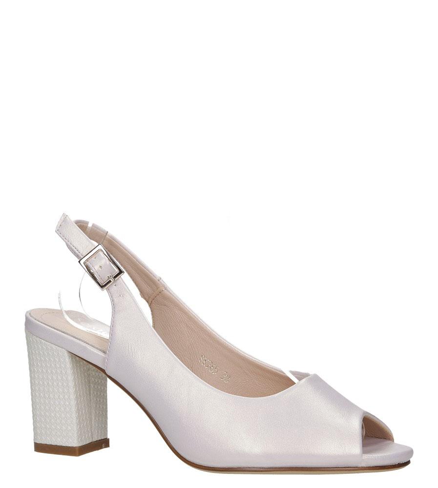 Beżowe sandały perła peep toe na ozdobnym obcasie Sergio Leone SK765