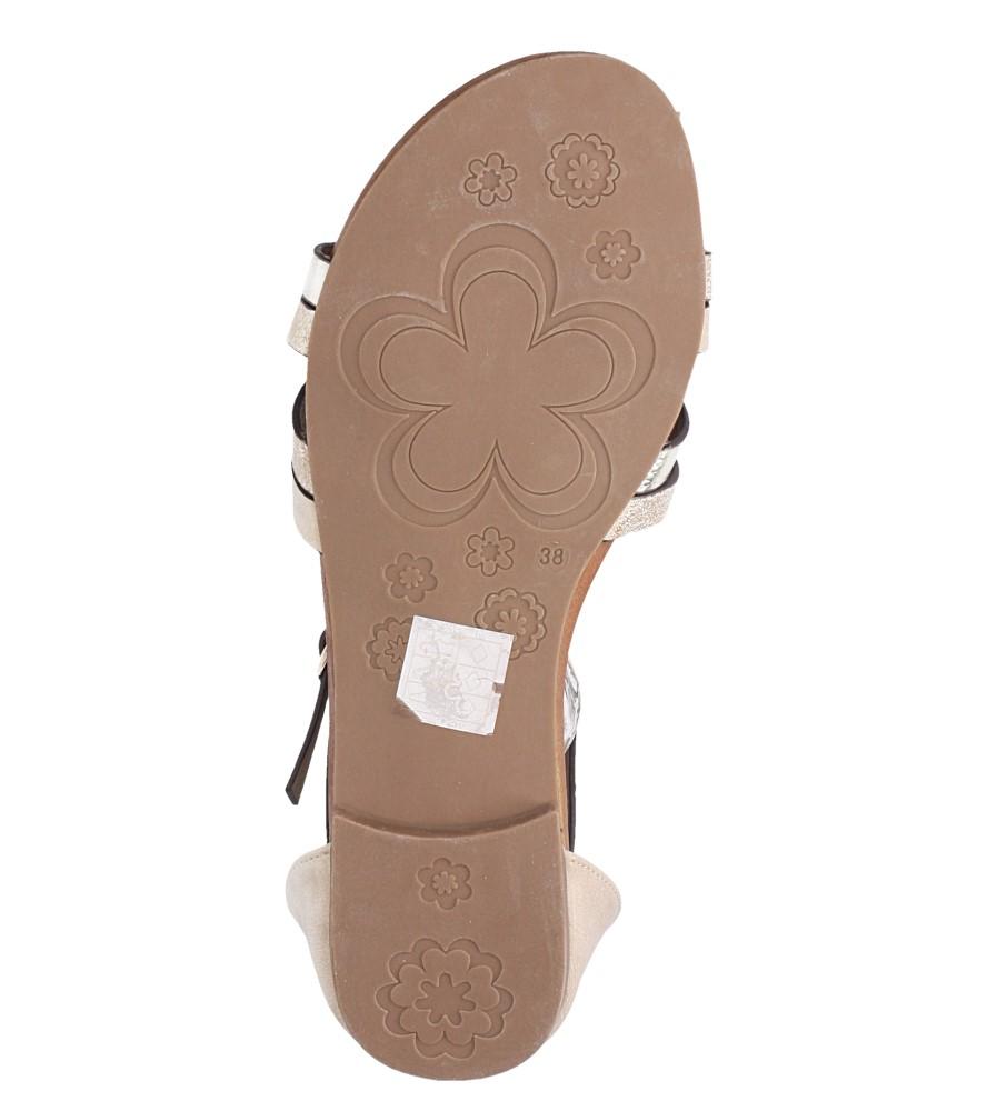 Beżowe sandały płaskie z zakrytą piętą i paskiem wokół kostki Casu K18X9/BE wys_calkowita_buta 10 cm