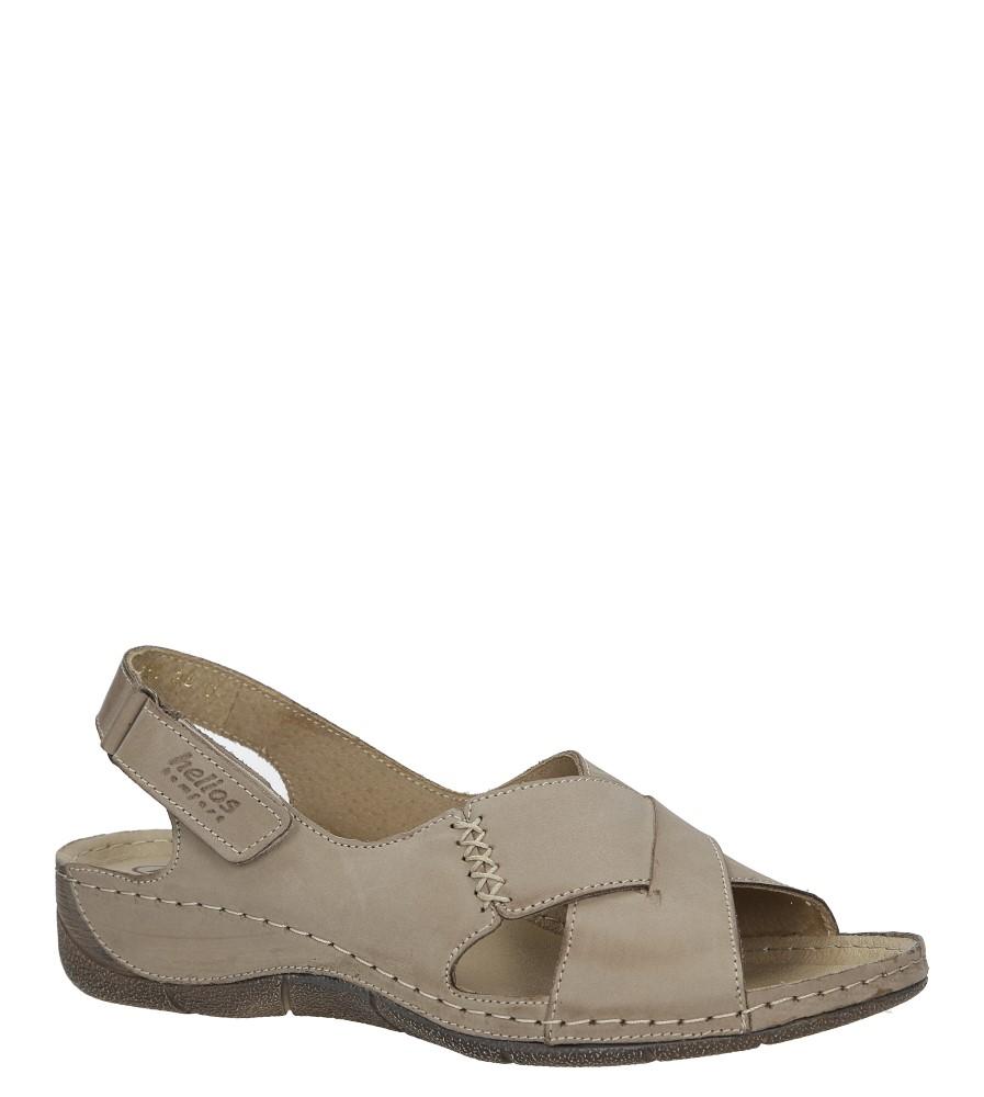 Beżowe sandały skórzane na koturnie Helios 229-1