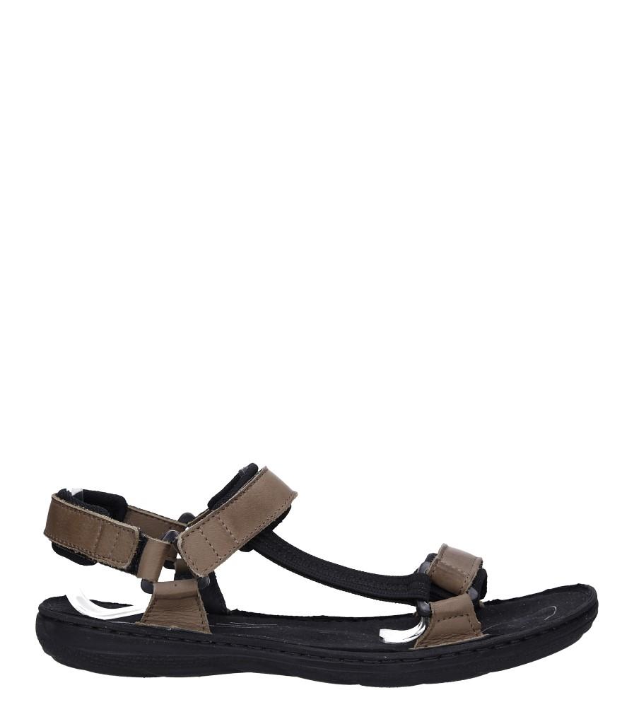Beżowe sandały skórzane na rzepy Łukbut 09900-4-L-032